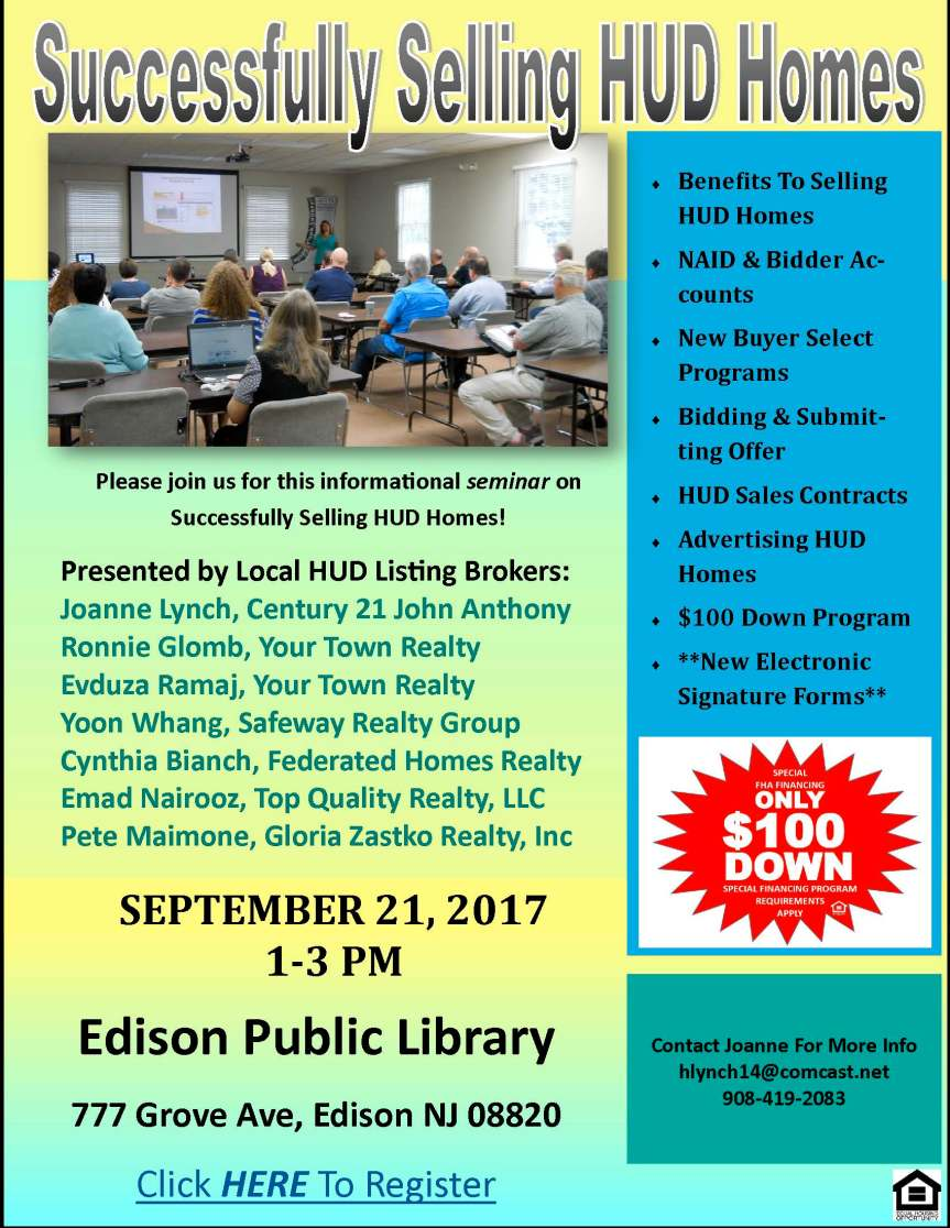 HUD Training Flyer sept